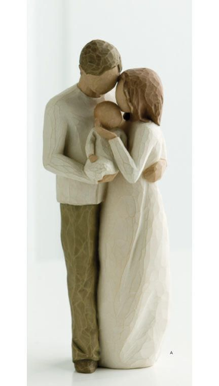 Willow Tree Figurine - Our Bright Joyful Gift (New family: Dad, Mom, baby)