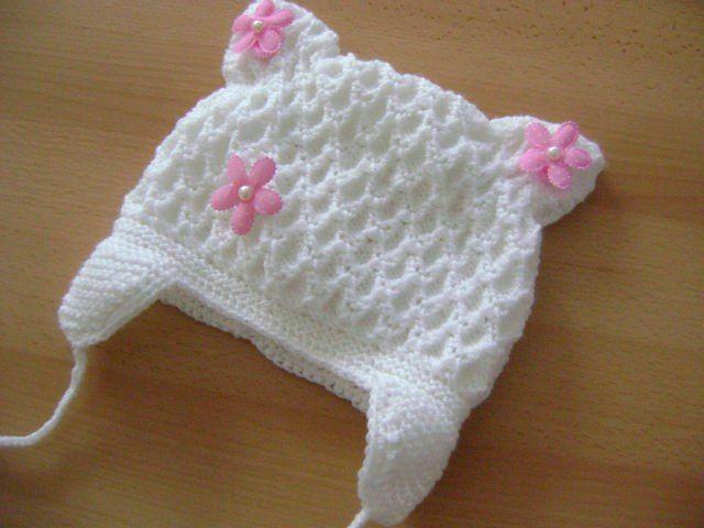 простые узоры для вязания шапки спицами