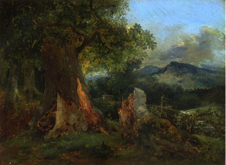 Théodore Rousseau - Vieux chêne et le tronc pourrissant