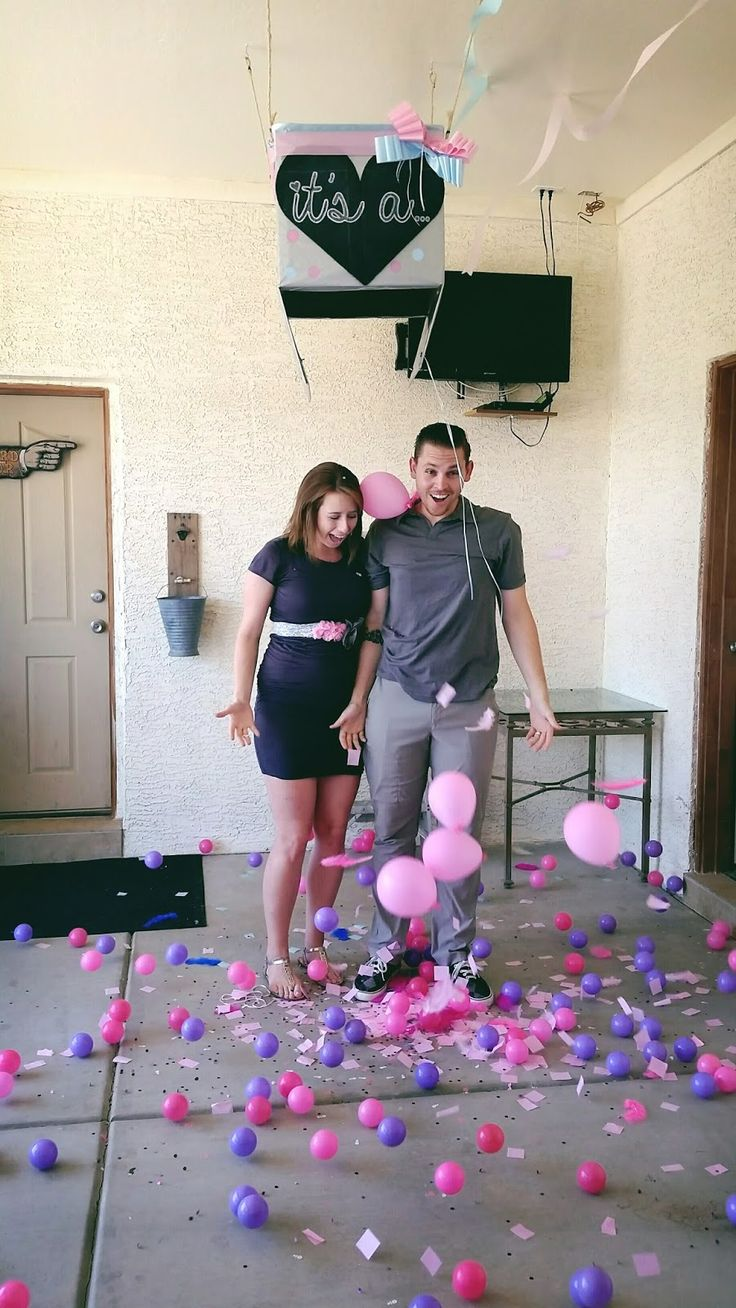 Gender reveal party | Box | Ball pit balls | balloons | Baby | Girl Our Storybook Life: BOY OR GIRL????