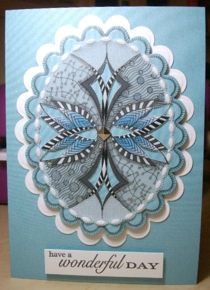 Stamping gear meets parchment craft & Gemtangle Classes with Gemini Crafts www.geminicrafts.co.uk