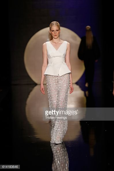 A model walks the runway at the Ozgur Masur show during Mercedes-Benz... News Photo | Getty Images