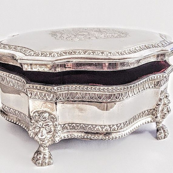 Silver Jewelry Box Vintage Jewellery Box by AntiqueSilverArt