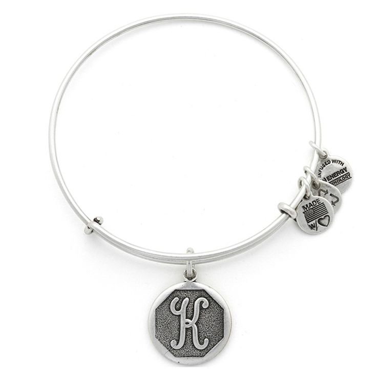 The Initial K Charm Bangle From Alex And Ani Today Each Is Beautifully Stamped With Script Letters Creating An Elegant Clic Look