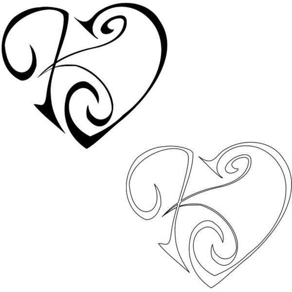 k j tattoo found on polyvore help me make this r and j. Black Bedroom Furniture Sets. Home Design Ideas