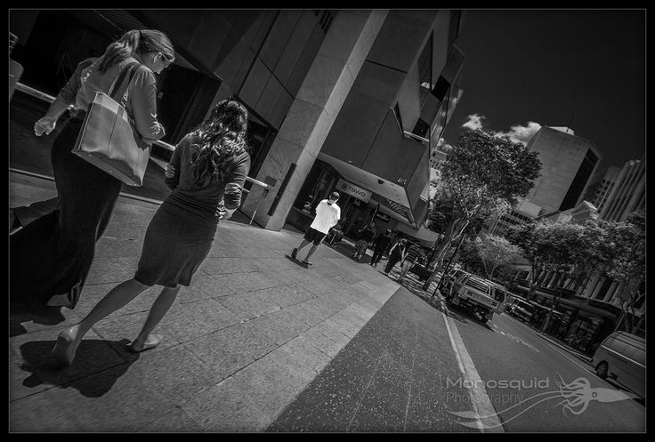 Street photo of people walking down the footpath - (c) Copyright Monosquid 2013, All rights reserved. Come join our facebook page where you can receive freebies, get tips and tutorials on photography and join in on a fun and positive photography community.  https://www.facebook.com/monosquidphotography