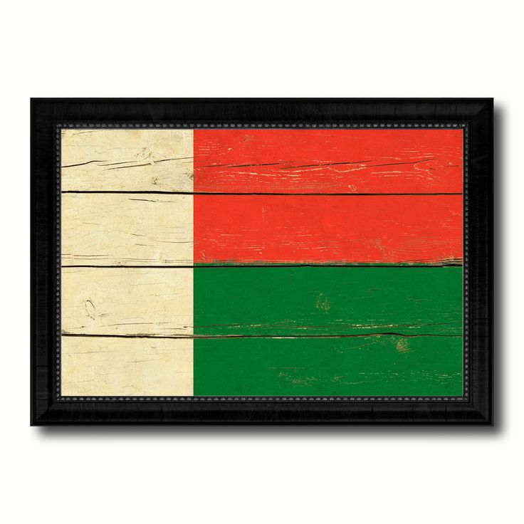Madagascar Country Flag Vintage Canvas Print with Black Picture Frame Home Decor Gifts Wall Art Decoration Artwork