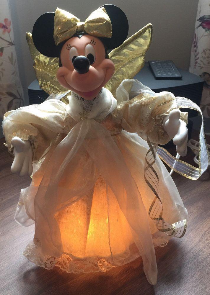Vintage Disney MINNIE MOUSE ANGEL ANIMATED TREE TOPPER