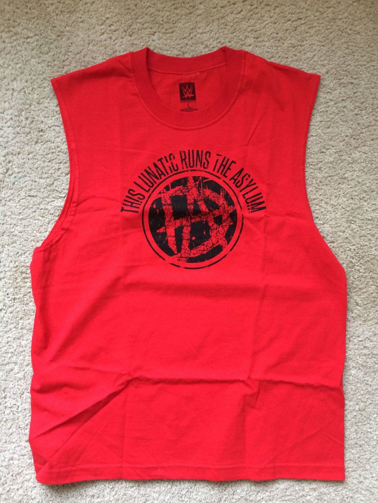 WWE Dean Ambrose Lunatic Asylum Sleeveless L T-Shirt NEW NEVER WORN large muscle - http://bestsellerlist.co.uk/wwe-dean-ambrose-lunatic-asylum-sleeveless-l-t-shirt-new-never-worn-large-muscle/