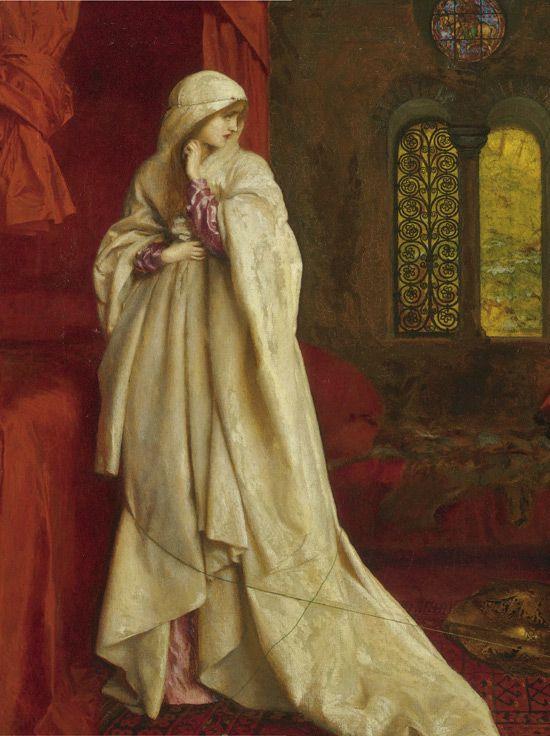 Frank Cadogan Cowper - Fair Rosamund and Eleanor (1920) (detail)
