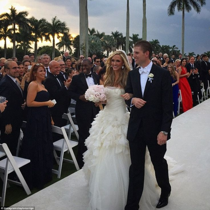 Eric Trump married his partner of six years Lara Yunaska
