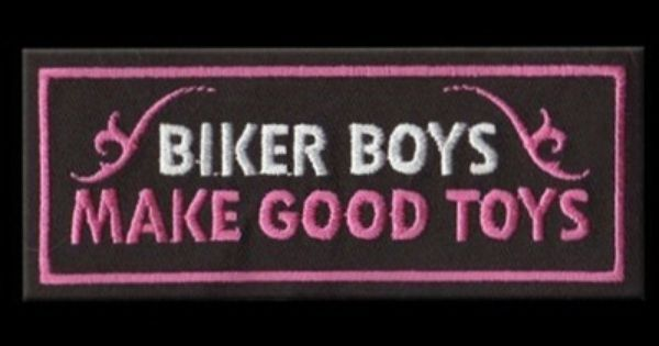 RebelGirl.com & American-Rebel.com: Womens Motorcycle Embroidered Patch BIKER BOYS - GOOD TOYS, Patches, 1986 | Biker Life | Pinterest | Toys, Count and Wells
