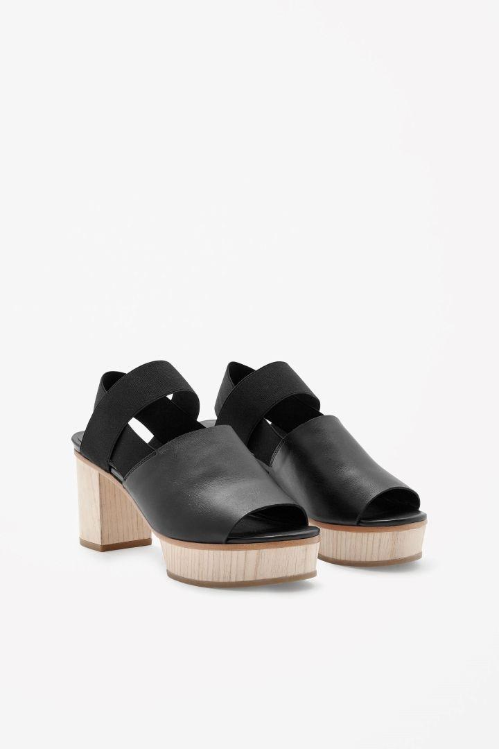 COS | Wood heel sandals