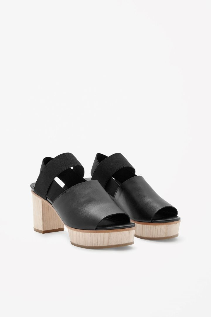 COS | Wood heel sandals