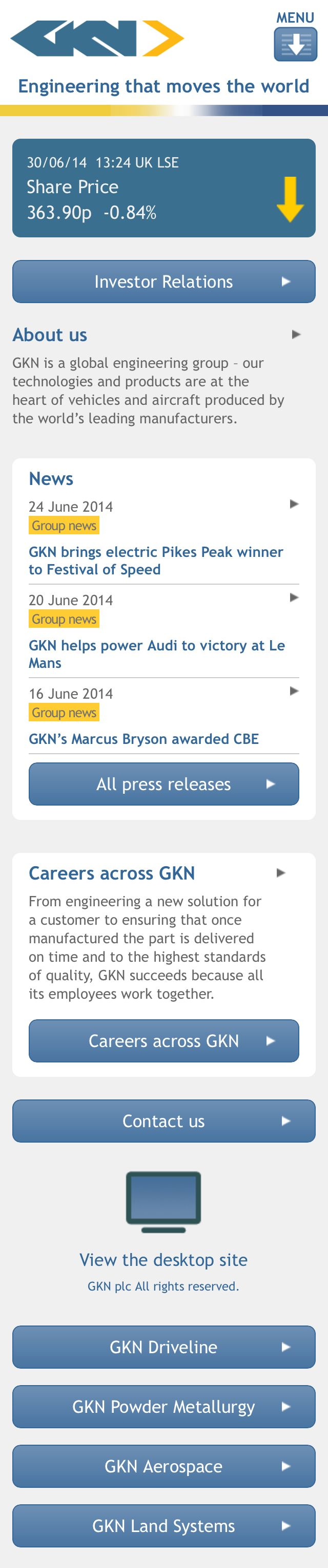GKN's mobile responsive candidate portal