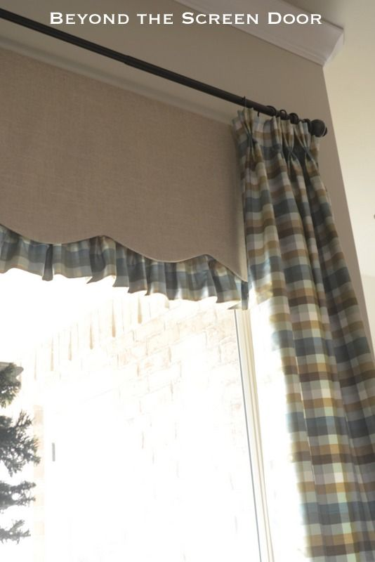 Panels with Undervalance  4 Windows, 3 Curtains, 2 Fabrics in 1 Open Space | Beyond the Screen Door