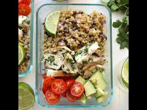 VIDEO: Meal-Prep Cilantro Lime Chicken with Cauliflower Rice - Fit Foodie Finds