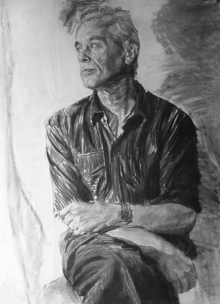 Figure male model. ( Vitaly Yekleris. Repin Academy of Fine Arts / Виталий Еклерис. Академия художеств им. Репина )