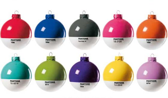 Pantone Christmas ornaments!