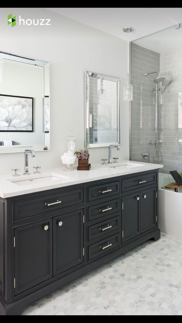 25 best ideas about dark cabinets bathroom on pinterest - Dark wood bathroom storage cabinets ...