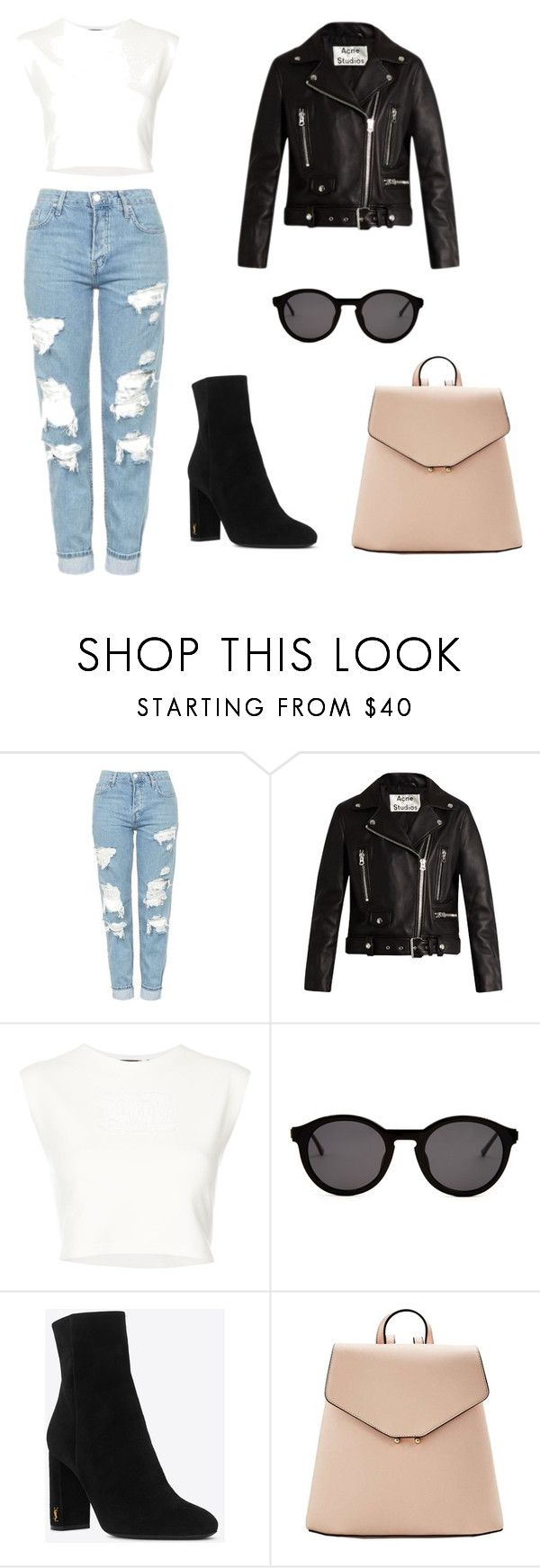 """60s"" by sofigaitan on Polyvore featuring moda, Topshop, Acne Studios, Puma, Thierry Lasry, Yves Saint Laurent y MANGO"