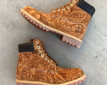 Custom Painted or Glitter Timberland Boots for Women and Kids