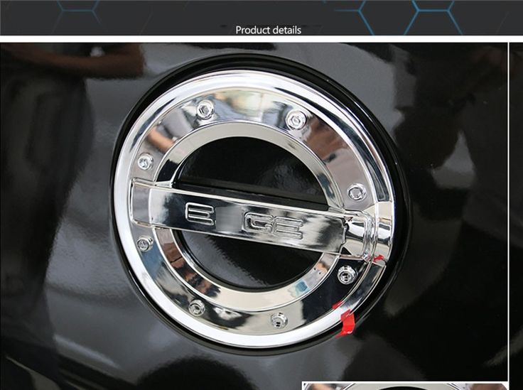 Car Exterior Accessories Chrome Gas Tank Fuel Oil Cap Cover For Ford Edge 2010-2014