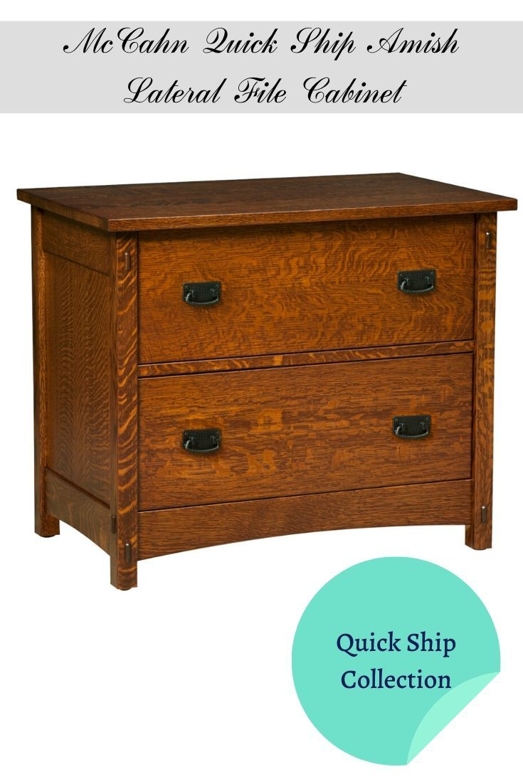 Amish Lateral File Cabinet Handcrafted From Quartersawn White Oak