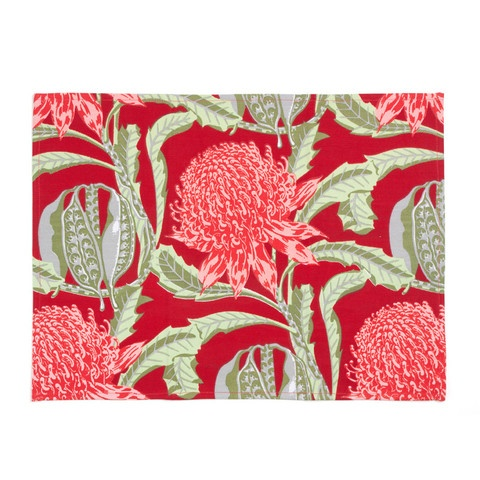 State of Waratah Placemat - Red
