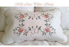 gorgeous wild rose pillow by Zundt designs