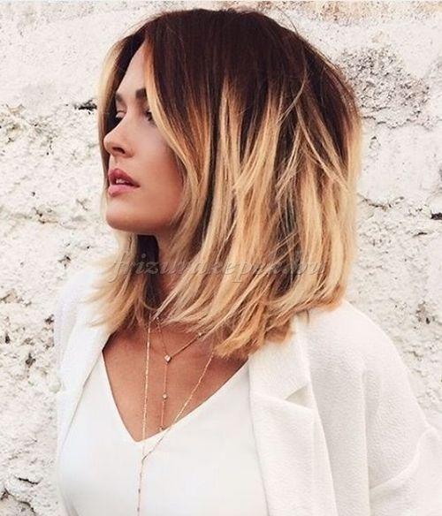 félhosszú+frizurák+egyenes+hajból+-+vállig+érő+ombre+frizura