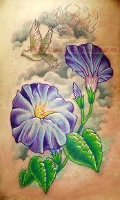 Chrysanthemum Purple Ink Tattoo