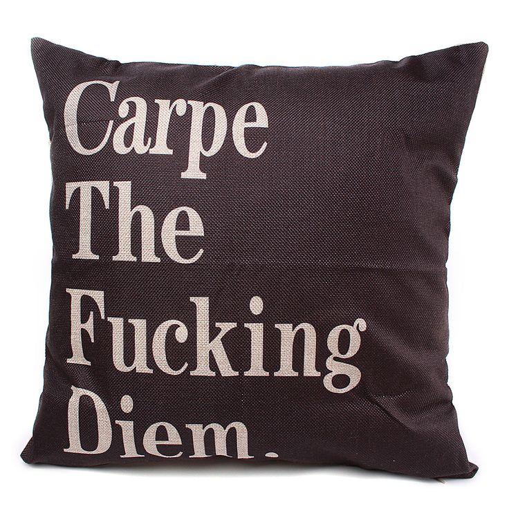 44x44cm carta decoración fundas de colchón funda de almohada de algodón de lino tiro hogar