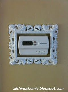 Embellish your thermostat....very cute idea!