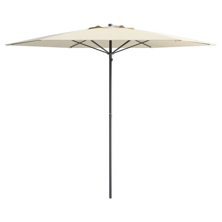 UV and Wind Resistant Beach/Patio Umbrella - Warm White - CorLiving, Off White