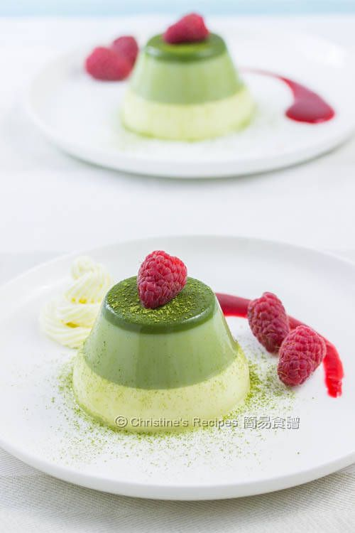 japanese shopping online fashion Layered Green Tea Panna Cotta Panna Cotta Green Teas and Teas
