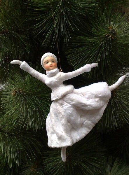 Современная ватная елочная игрушка, Вика Миненко