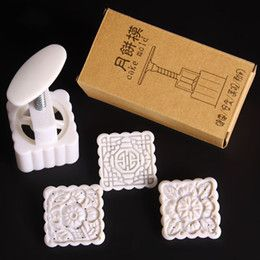 100g Moon Cake Mold Set with 3 patterns