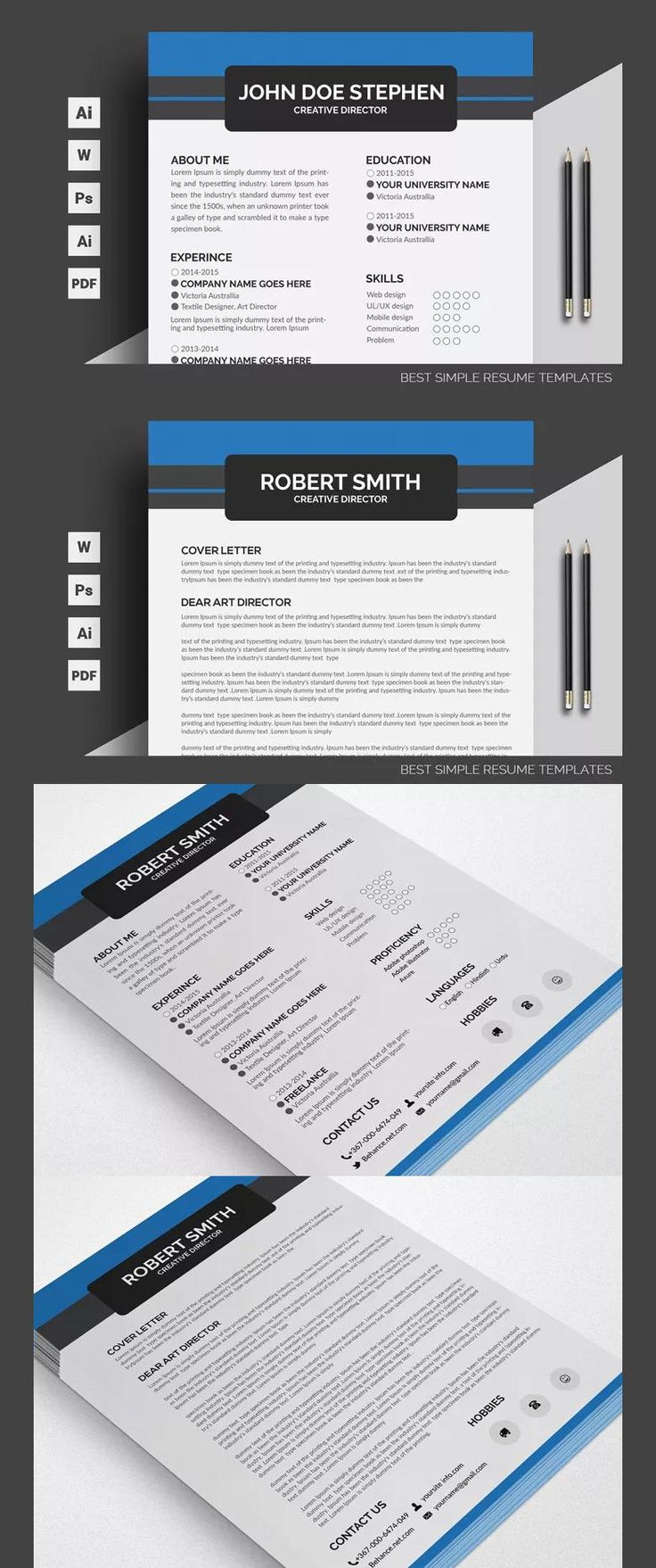Free Printable Resume PSD