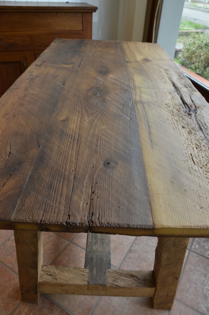 Oltre 25 fantastiche idee su tavoli in legno su pinterest - Mobili con legno di recupero ...