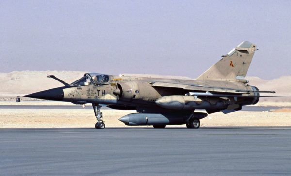 Mirage F1-CT dans sa livrée guerre du Golfe de 1990/1991.