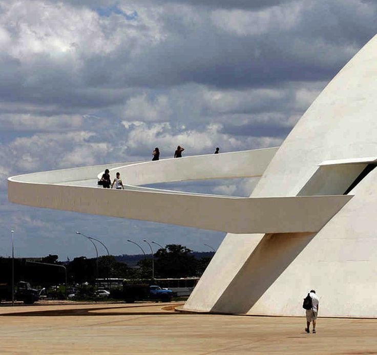 Brazilia's National museum ramp, Oscar Niemeyer.