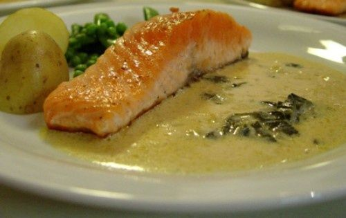 Salmon with white wine recipe something to eat pinterest for Best white fish to eat
