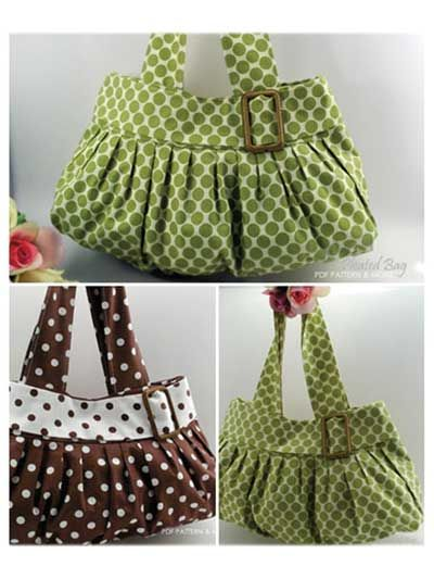 Pleated Bag Sewing Pattern - because I need more bags :s