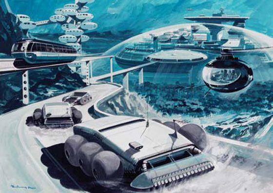 Undersea City #illustration #vintage #scifi