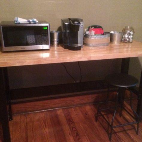 Coffee bar using Craftsman workbench
