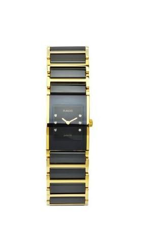 RADO JUBILE  LADIES BLACK LEATHER DIAMONDS  WATCH