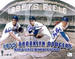 1955 Brooklyn Dodgers World Series Winning Pitchers!