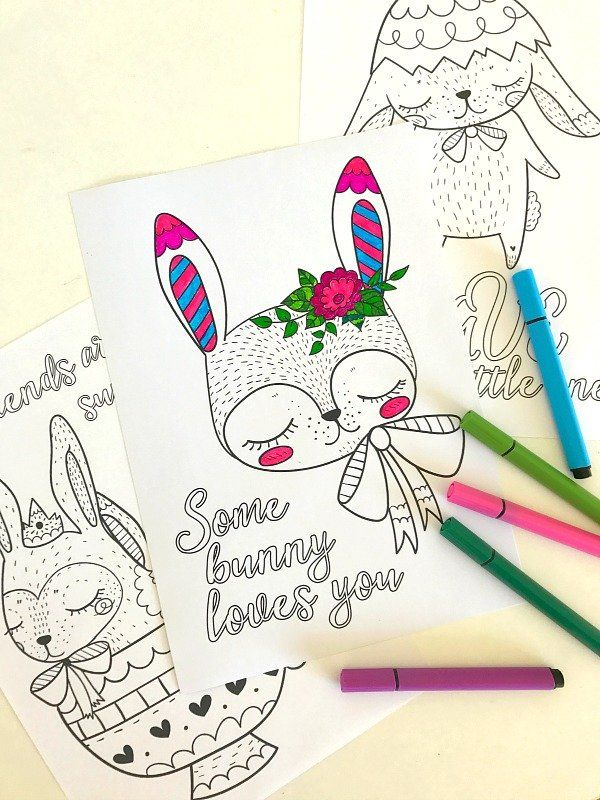 Four cute, inspirational coloring pages for tweens and teens. Featuring cute bunnies and quotes sure to resonate with older children. Free download.