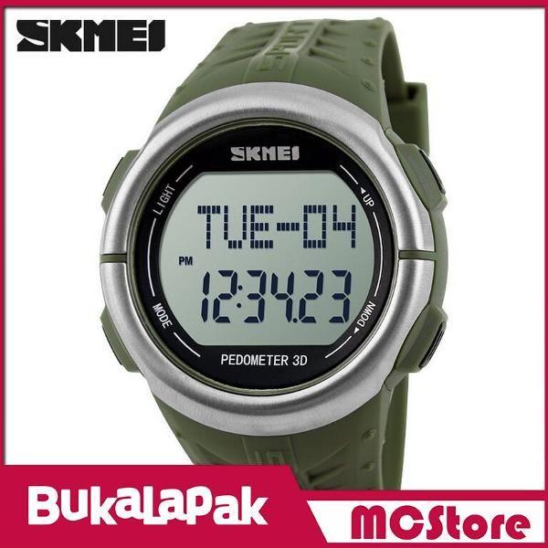 Beli MCStore Jam Tangan SKMEI Sport Watch Pedometer Heart Rate Tracking Water Resistant - DG1058HR1 - Army Green dari MCStore habibwaldani - Jakarta Barat hanya di Bukalapak